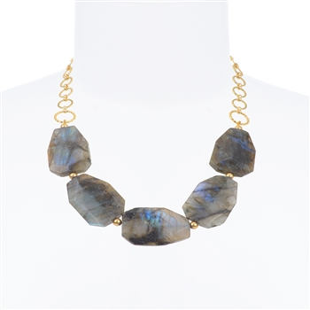 Giselle Necklace - Grey Iridescent