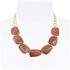 Giselle Necklace - Goldstone