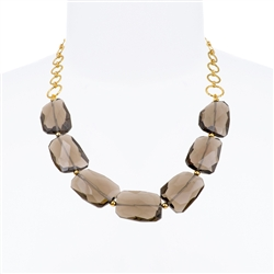 Giselle Necklace - Smokey Topaz