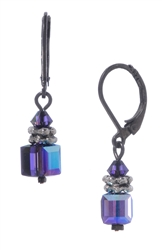 Heidi Drop Earrings - Purple Aurora Borealis