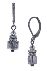 Heidi Drop Earring - Silver Crystal