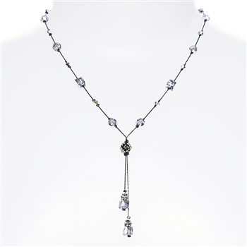 Heidi Necklace - Silver Crystal