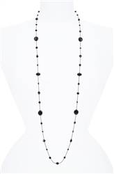 Hailey Long Necklace - Black Onyx