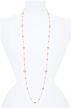 Hailey Long Necklace - Golden Shimmer