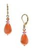 Annie Drop Earring - Orange / Pink