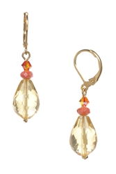 Annie Drop Earring - Orange / Yellow Multi