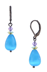 Annie Drop Earring - Aqua Multi