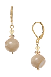 Annie Drop Earring - Natural Ivory