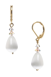 Annie Drop Earring - White Cats Eye