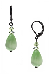 Annie Drop Earring - Peridot Green