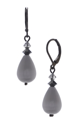 Annie Drop Earring - Gray
