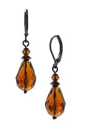 Annie Drop Earring - Brown