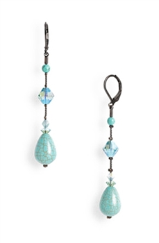 Annie Long Earring - Turquoise