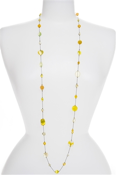 Annie Illusion Necklace - Yellow