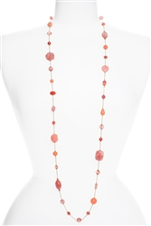 Annie Illusion Necklace - Coral