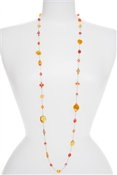 Annie Illusion Necklace - Orange / Yellow Multi
