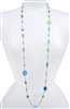 Annie Illusion Necklace - Aqua Multi