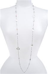Annie Illusion Necklace - White Cats Eye