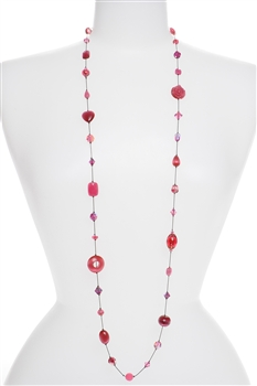Annie Illusion Necklace - Pink
