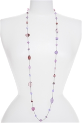 Annie Illusion Necklace - Violet