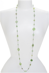 Annie Illusion Necklace - Peridot Green