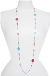 Annie Illusion Necklace - Pastel Multi