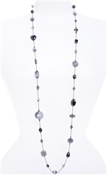 Annie Illusion Necklace - Gray Hematite Mix
