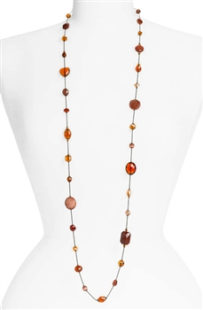 Annie Illusion Necklace - Brown Mix