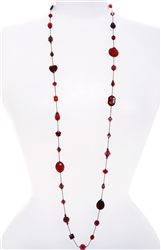 Annie Illusion Necklace - Red Mix