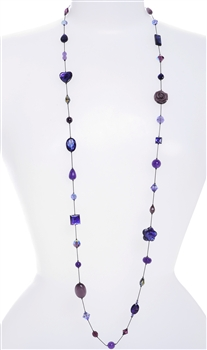 Annie Illusion Necklace - Purple Mix