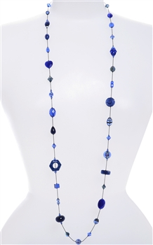 Annie Illusion Necklace - Navy / Blue Mix