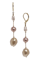 Illusion Pearl Long Earrings - Multi