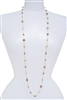 Illusion Long Pearl Necklace - Multi