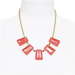Kylie Necklace - Coral
