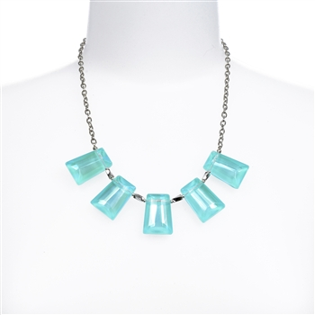 Kylie Necklace - Aqua
