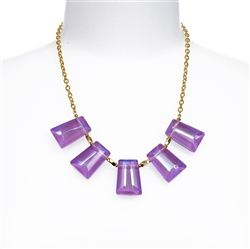 Purple Crystal Statement Necklace