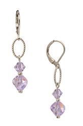 Lyla Drop Earring - Violet