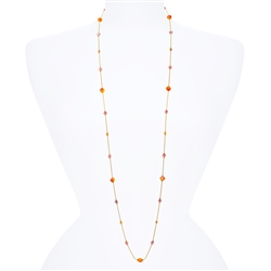 Lyla Necklace - Orange Pink