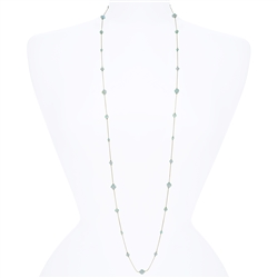 Lyla Necklace - Aqua Opal
