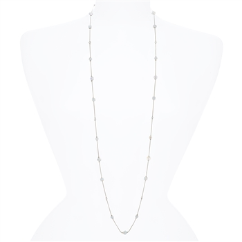 Lyla Necklace - Crystal White Opal