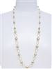 Lauren Pearl Necklace - Cream