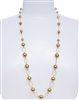 Lauren Pearl Necklace - Gold