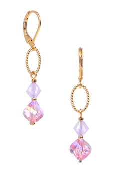 Melinda Drop Earring - Pink
