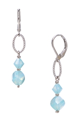 Melinda Drop Earring - Aqua