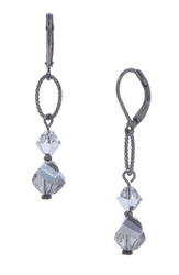 Melinda Drop Earring - Silver Crystal