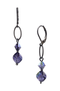 Melinda Drop Earring - Purple