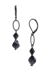 Melinda Drop Earring - Jet