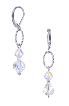 Melinda Drop Earring - Clear