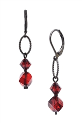 Melinda Drop Earring - Red