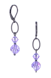 Melinda Drop Earring - Violet